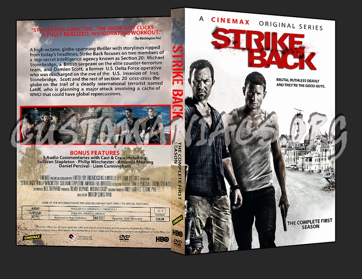 Strike Back - Season 1 dvd cover