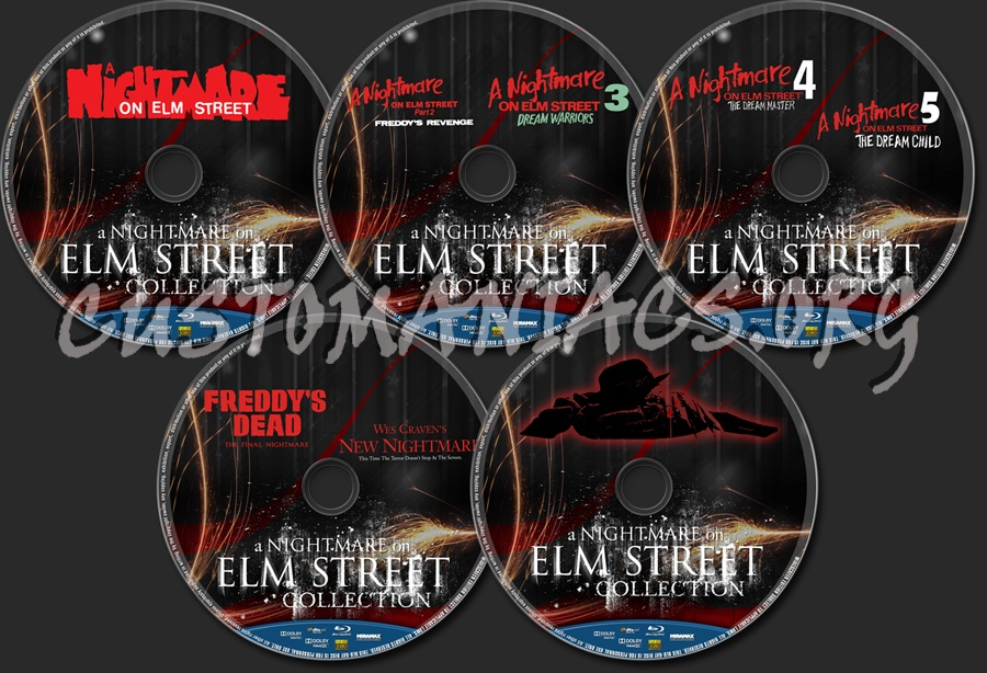 A Nightmare On Elm Street Collection blu-ray label