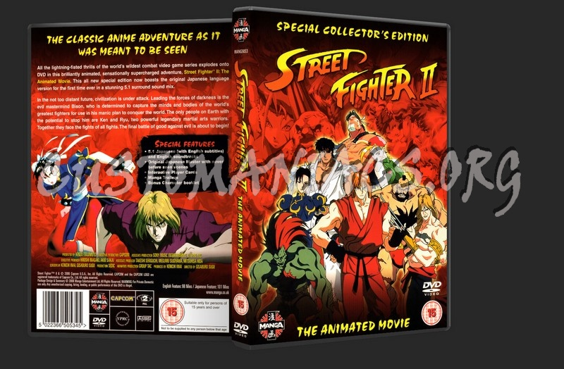 Street Fighter 2 The Animated Movie Dvd Cover Dvd Covers