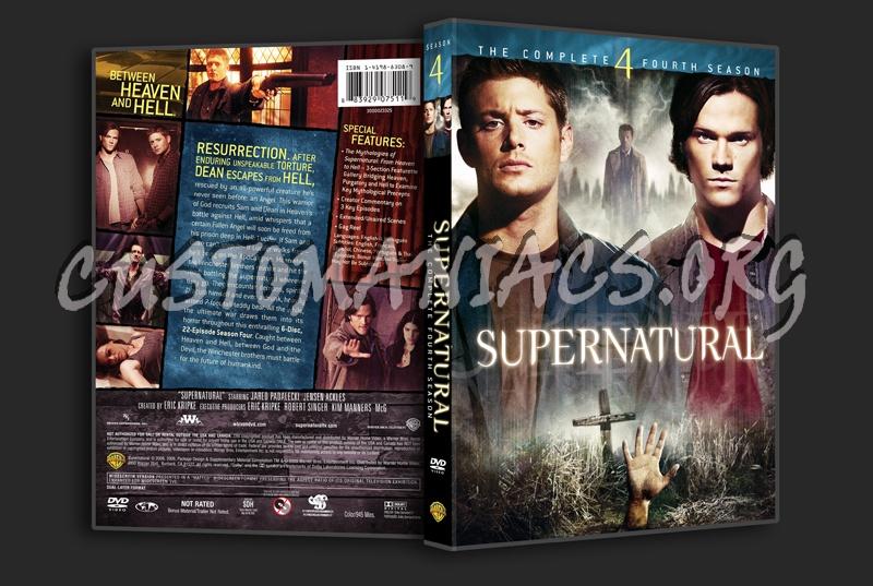 Supernatural Season 4 dvd cover