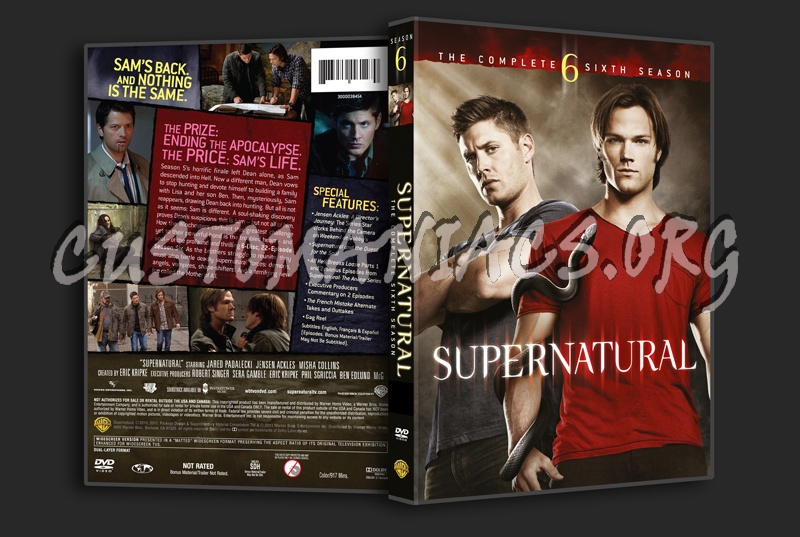 Supernatural Season 6 dvd cover