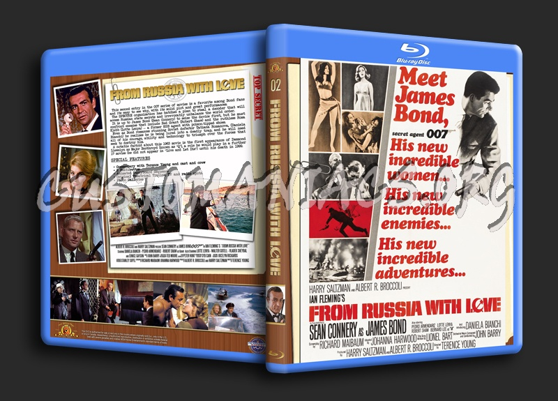 From Russia With Love blu-ray cover