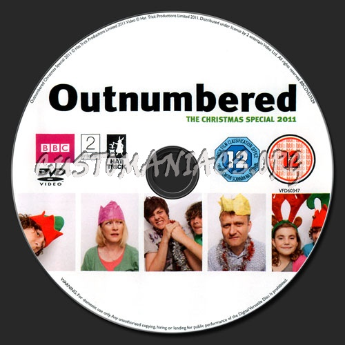 Outnumbered - The Christmas Special 2011 dvd label