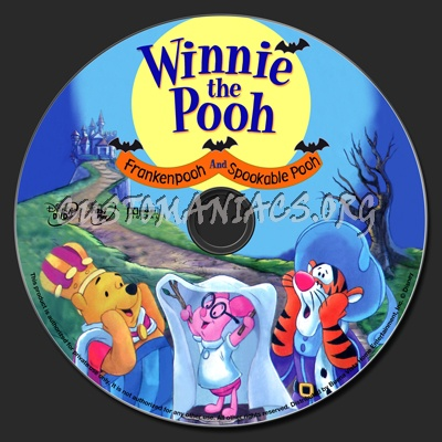 Winnie the Pooh: Frankenpooh and Spookable Pooh dvd label