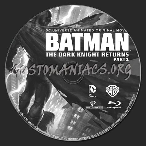 Batman The Dark Knight Returns Part 1 blu-ray label