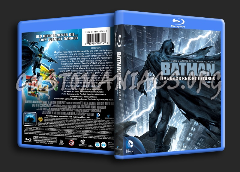 Batman The Dark Knight Returns Part 1 blu-ray cover