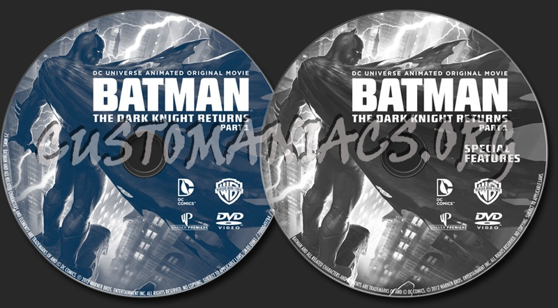 Batman The Dark Knight Returns Part 1 dvd label