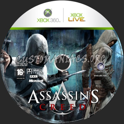 Assassin's Creed dvd label
