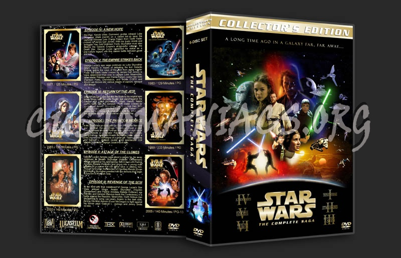 Star Wars: The Complete Saga dvd cover