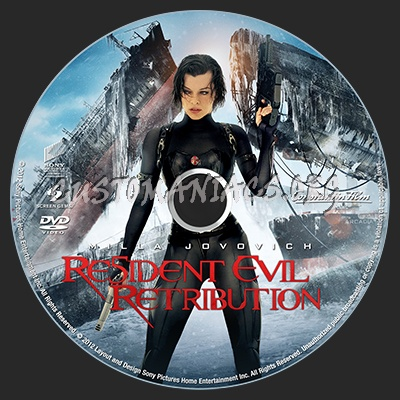 Resident Evil Retribution dvd label - DVD Covers & Labels by