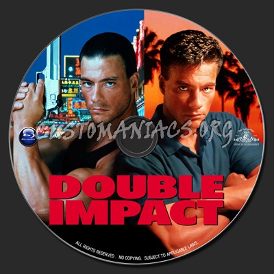 Double Impact (1991) blu-ray label