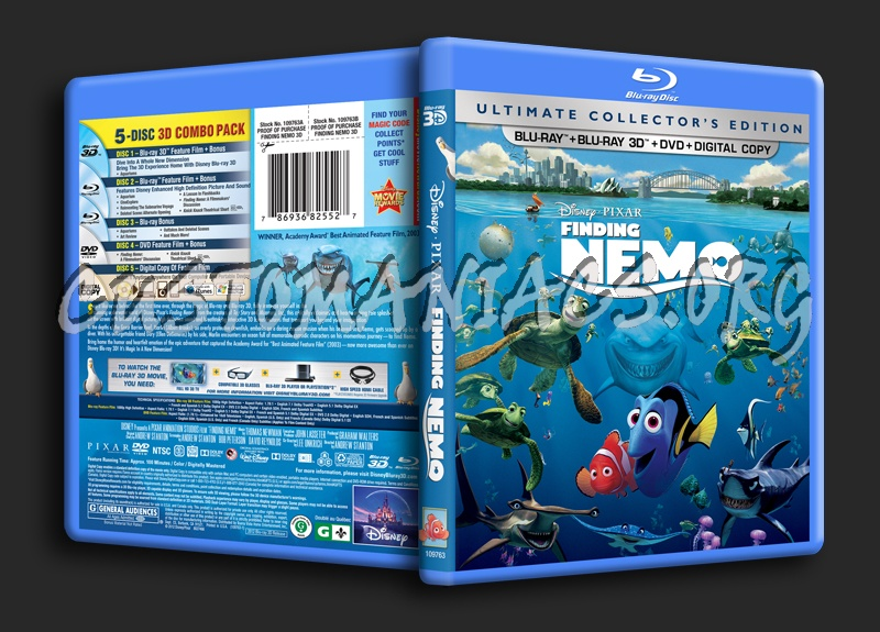 Finding Nemo 3D blu-ray cover