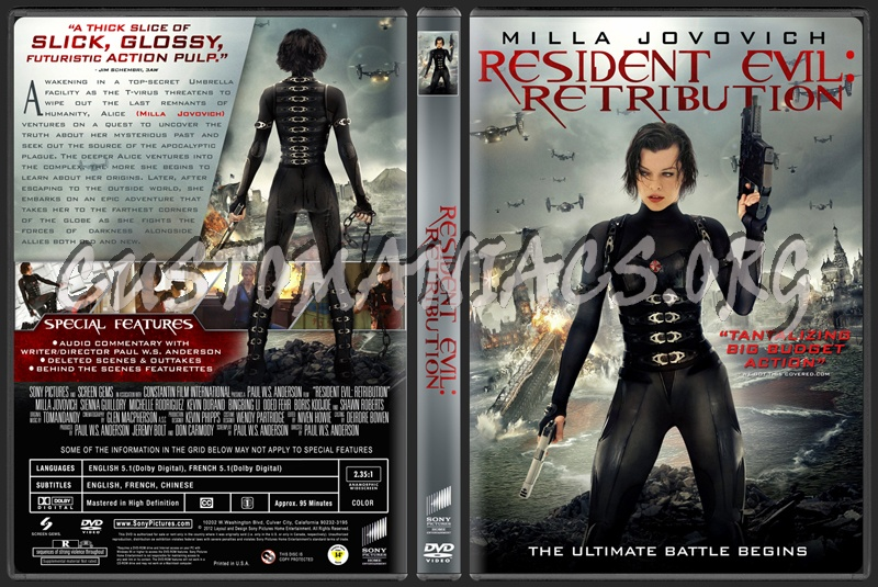 Resident Evil: Retribution dvd cover