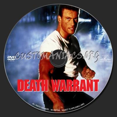 Death Warrant 1990 Dvd Label