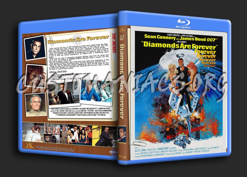 Diamonds Are Forever blu-ray cover