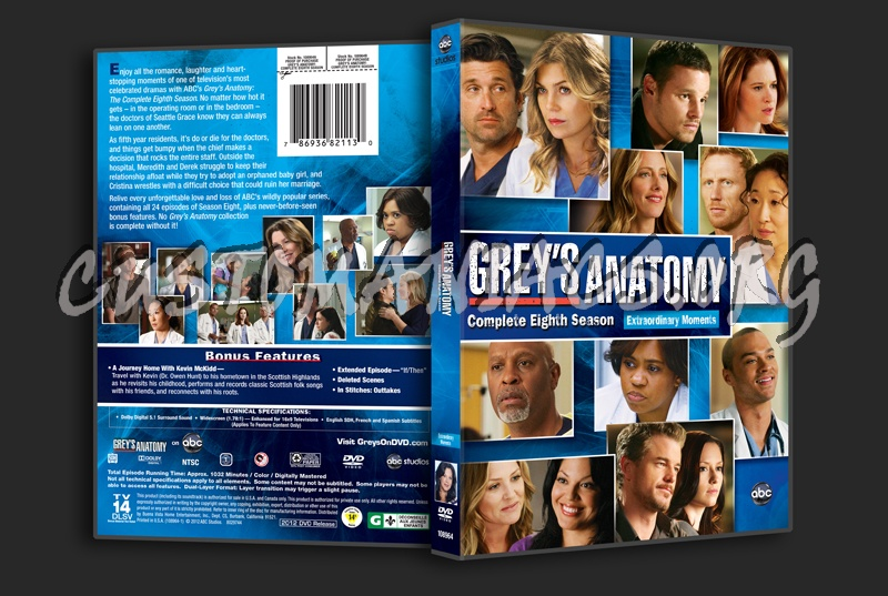Greys Anatomy Season 8 Dvd Cover Dvd Covers Labels By