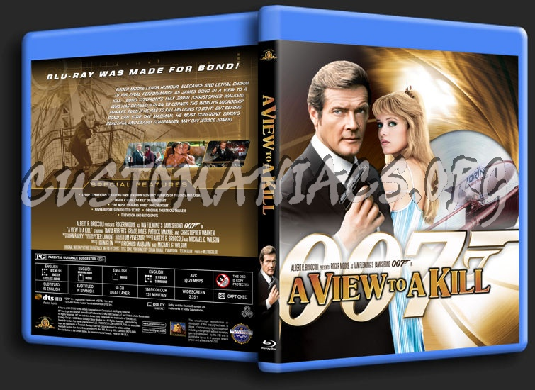 James Bond: A View to a Kill blu-ray cover