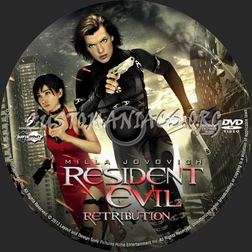 Resident Evil Retribution 2012 Dvd Label Dvd Covers Labels By Customaniacs Id 176712 Free Download Highres Dvd Label