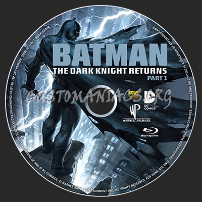 Batman The Dark Knight Returns Part 1 blu-ray label