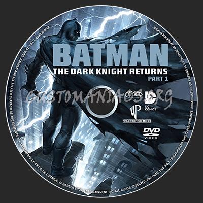 Batman The Dark Knight Returns Part 1 dvd label