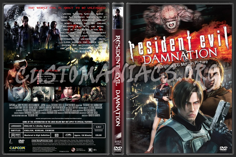 Resident Evil: Damnation (aka Biohazard: Damnation) dvd cover