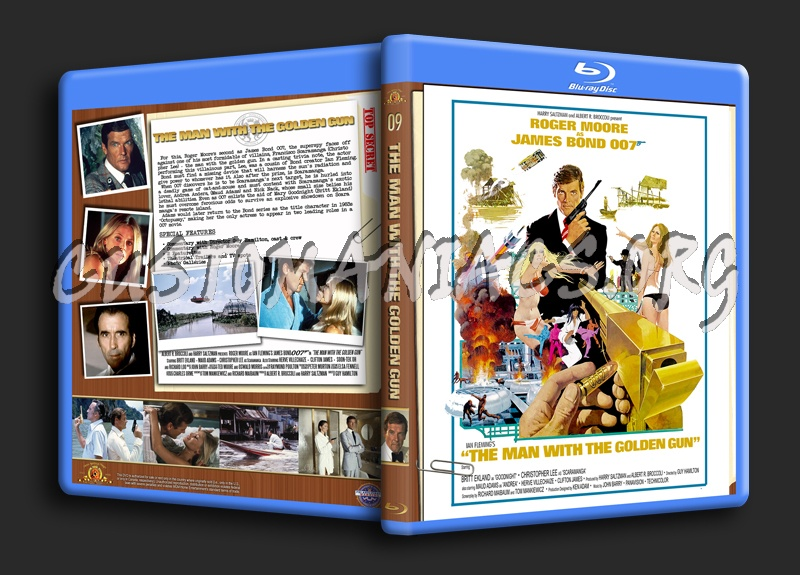 The Man With the Golden Gun blu-ray cover
