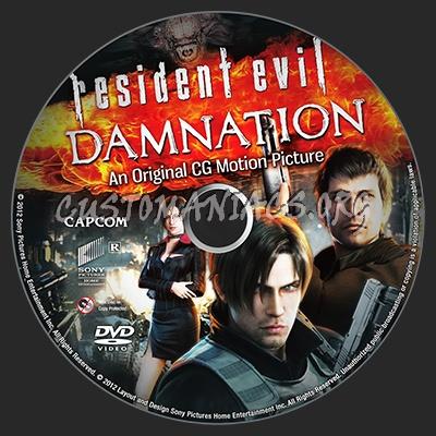Resident Evil: Damnation dvd label