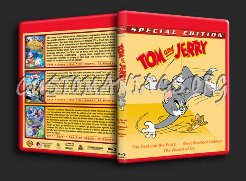 Tom & Jerry Triple Feature blu-ray cover