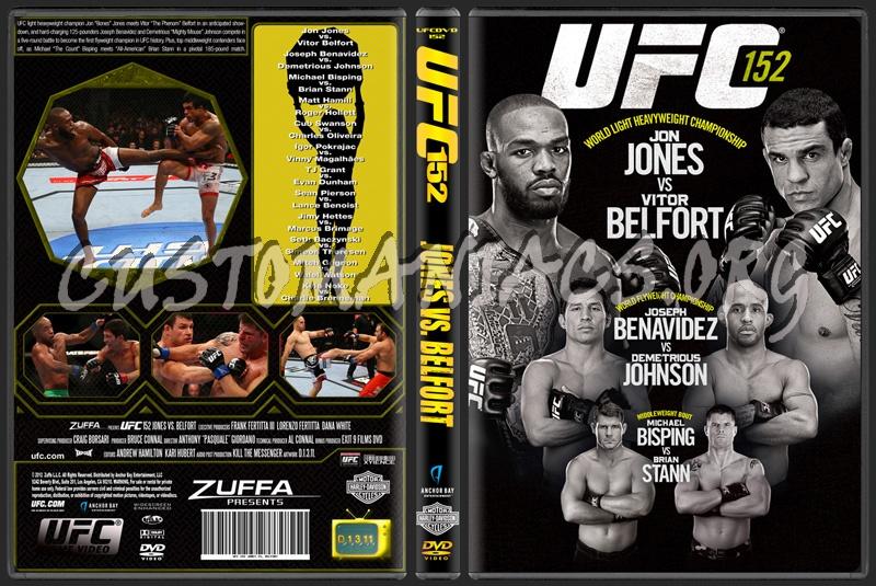 UFC 152 Jones vs Belfort dvd cover