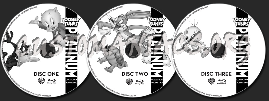 Looney Tunes Platinum Collection Volume 2 blu-ray label