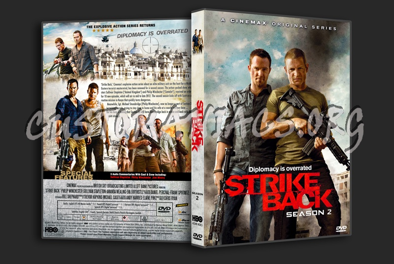 Strike Back Season 2 dvd cover