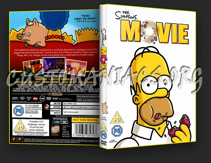 The Simpsons Movie Dvd Cover Dvd Covers Labels By Customaniacs Id 30830 Free Download Highres Dvd Cover
