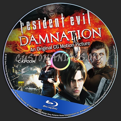 Resident Evil: Damnation blu-ray label