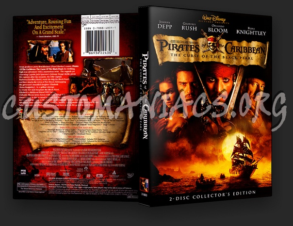 Pirates of the Caribbean: The Curse of the Black Pearl dvd cover