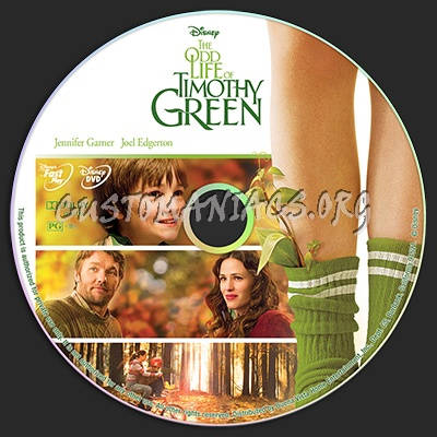 The Odd Life of Timothy Green dvd label