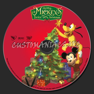 Mickey Mouse Twice Upon A Christmas.Mickey S Twice Upon A Christmas Dvd Label Dvd Covers