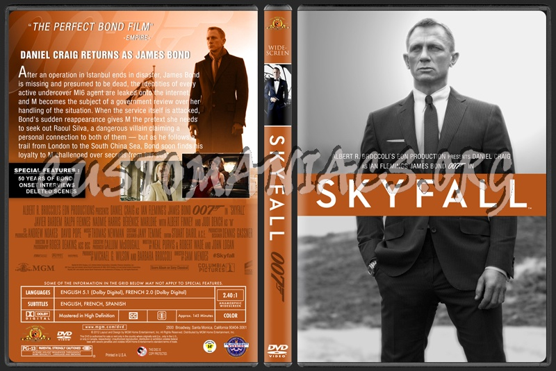 Skyfall - James Bond dvd cover