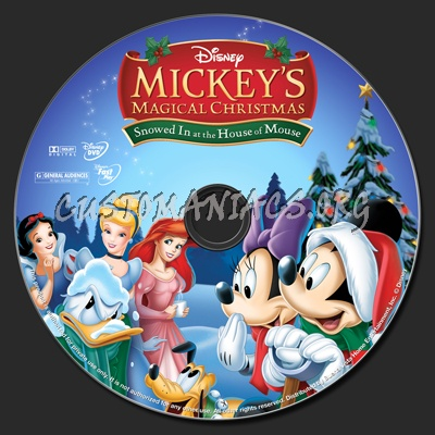mickeys magical christmas snowed in at the house of mouse dvd label - Mickeys Magical Christmas