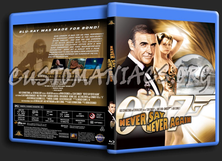 James Bond: Never Say Never Again blu-ray cover
