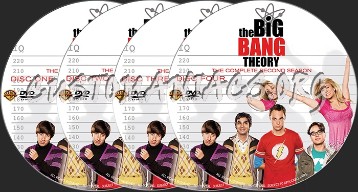 the big bang theory   the complete second season  2008  dvd label