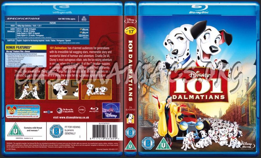 101 Dalmatians blu-ray cover