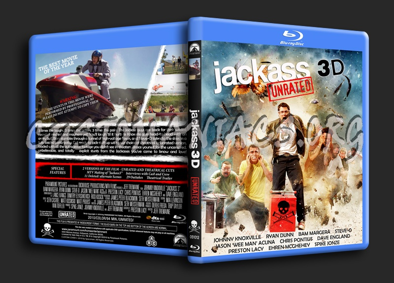Jackass 3D blu-ray cover