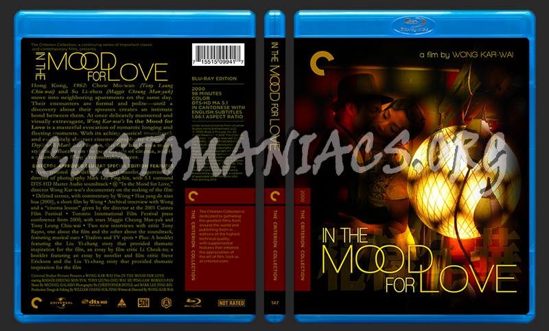 147 - In The Mood For Love blu-ray cover