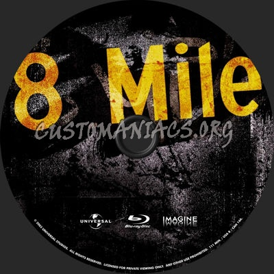 8 Mile Dvd 8 Mile Blu-ray Label