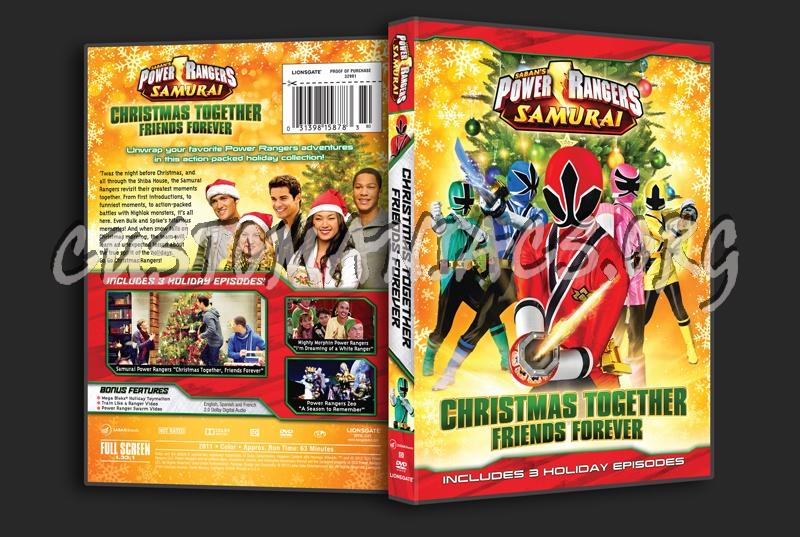 power rangers samurai christmas together friends forever dvd cover