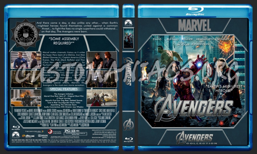 Avengers Collection - Avengers blu-ray cover