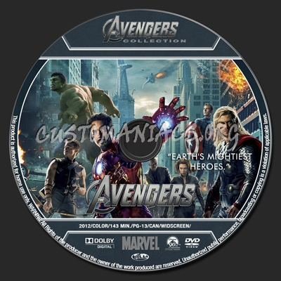 Avengers Collection - Avengers dvd label