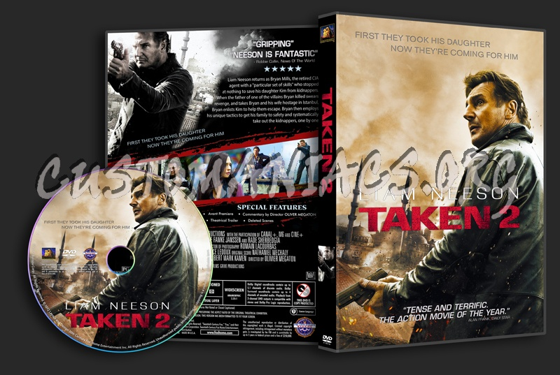 Taken 2 dvd cover