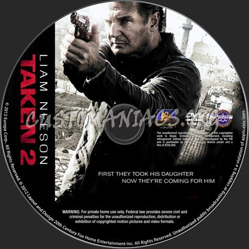 Taken 2 dvd label