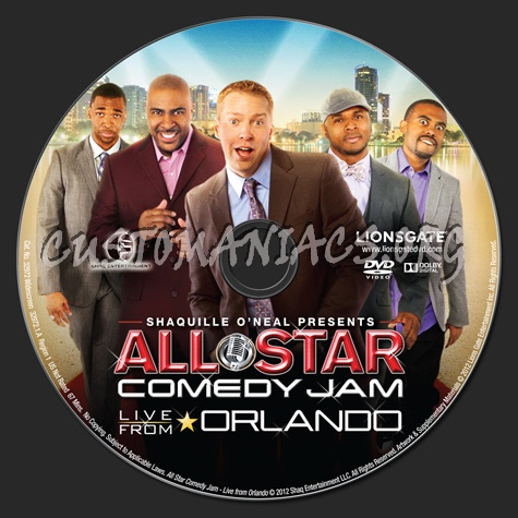 Shaquille O'Neal Presents Allstar Comedy Jam Live From Orlando dvd label